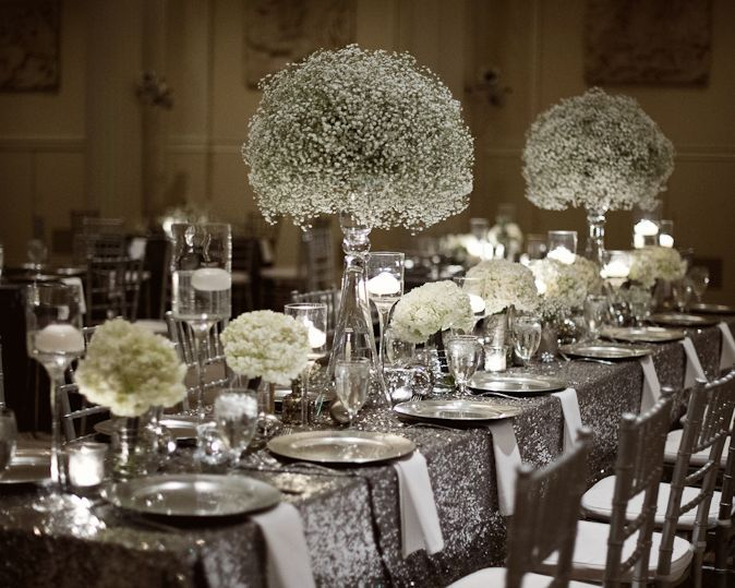 Image result for silver centerpiece wedding