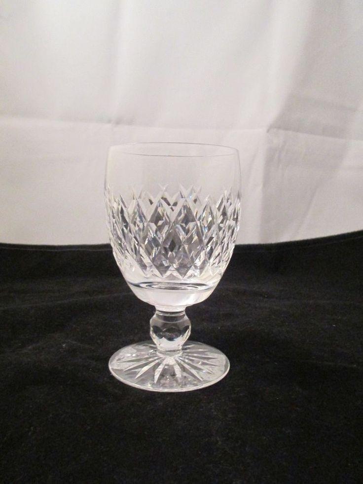 "Waterford Wine Glass Cut Crystal Boyne Stemware Claret Goblet 5.25"" Handblown #Waterford"