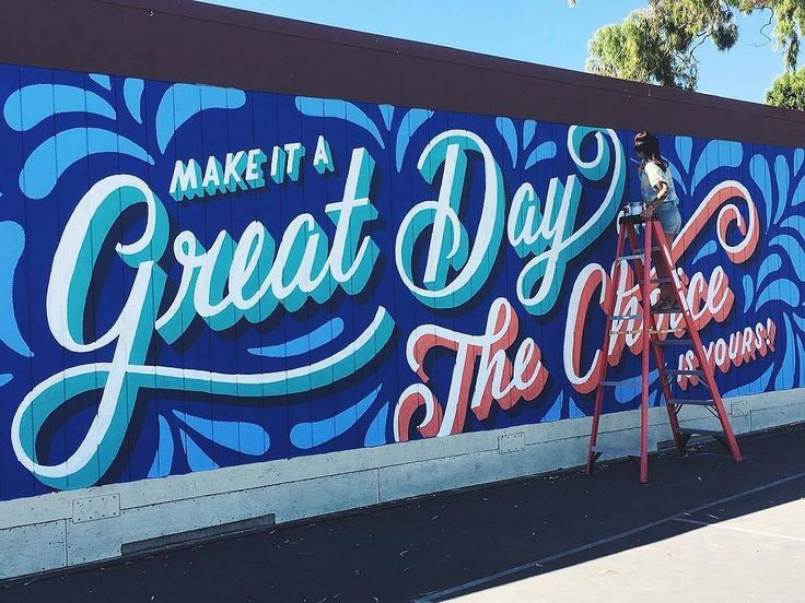 12619 best images about hand lettering typography on for Mural lettering