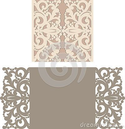 Laser Cut Invitation Card. Laser cutting pattern for invitation wedding card…