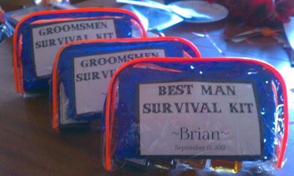 Groomsmen Survival Kits :  wedding diy groomsmen gifts survival kit