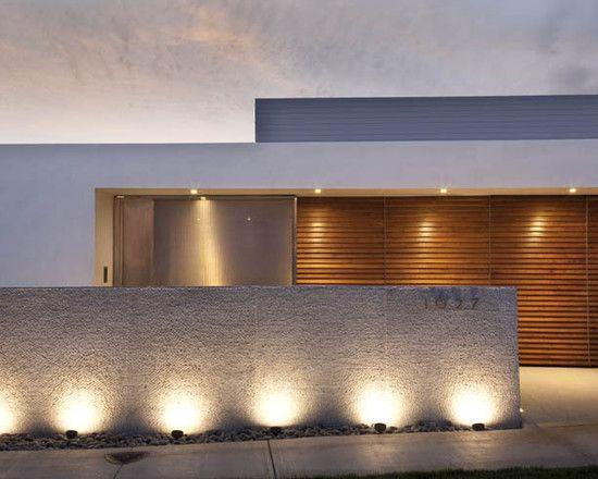 Lavish Contemporary House Architecture Offers Adorable Space Wonderful Modern Exterior Design Wood Garage Door 2