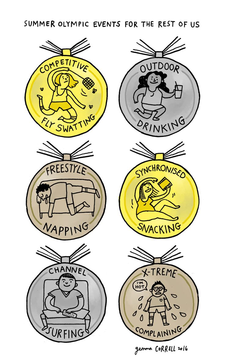 """thenib: """" Summer Olympic Events For the Rest of Us, from Gemma Correll """""""