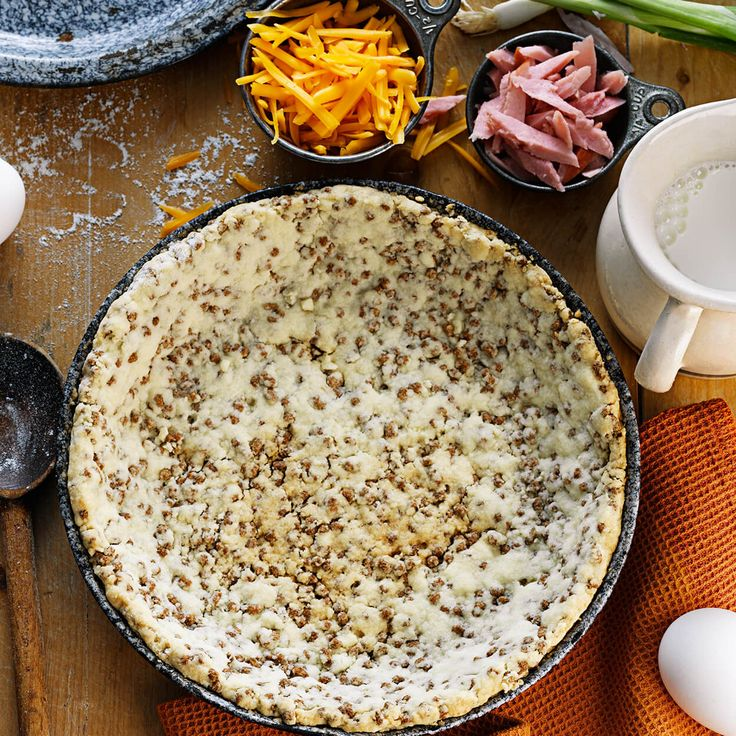 Easy Pie Crust made with Bran Buds cereal