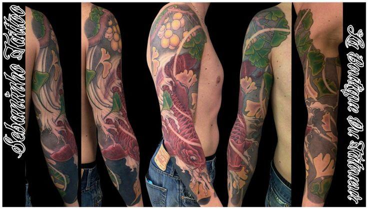 18 best images about tatouage japonais bras homme on pinterest skulls sushi and lotus. Black Bedroom Furniture Sets. Home Design Ideas
