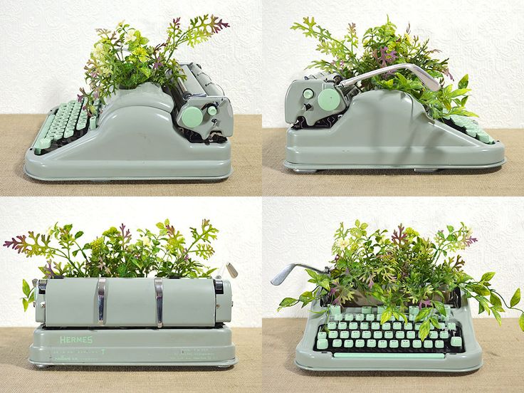 Unique Indoor Planter made from Upcycled Typewriter - pinned by pin4etsy.com