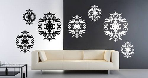 baroque tapestry vinyl cut outs (set of 9)