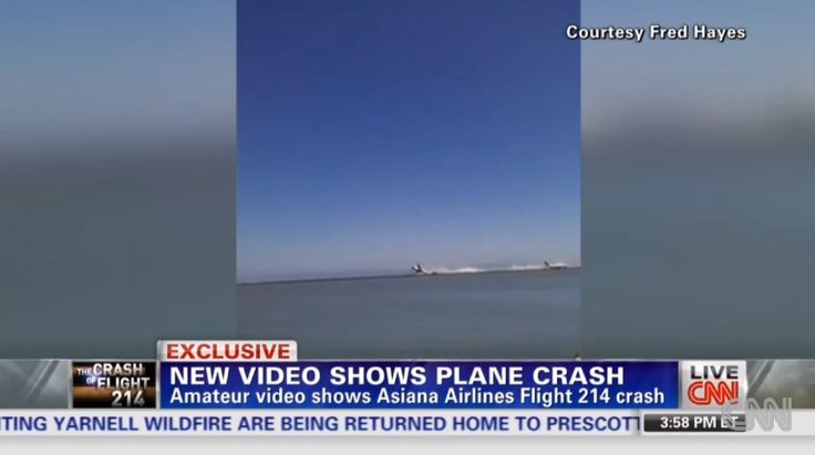 Asiana Airlines Flight 214 Crash Caught On Video (GRAPHIC) http://www.huffingtonpost.com/2013/07/07/video-of-asiana-crash_n_3558524.html