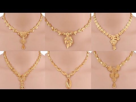 1ff08eeeaa Latest Gold Necklace Designs With Weight | Simple Gold Necklaces Designs  With Weight And Price - YouTube
