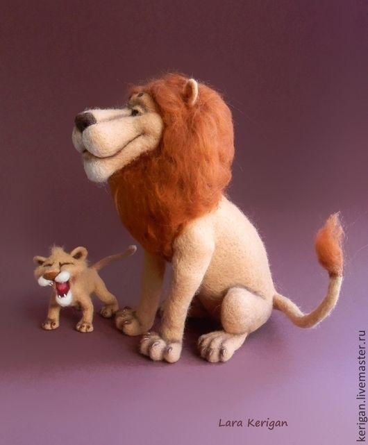 Игрушки животные, ручной работы. Король Лев. Lara Kerigan. Ярмарка Мастеров. Львы, проволочный каркас