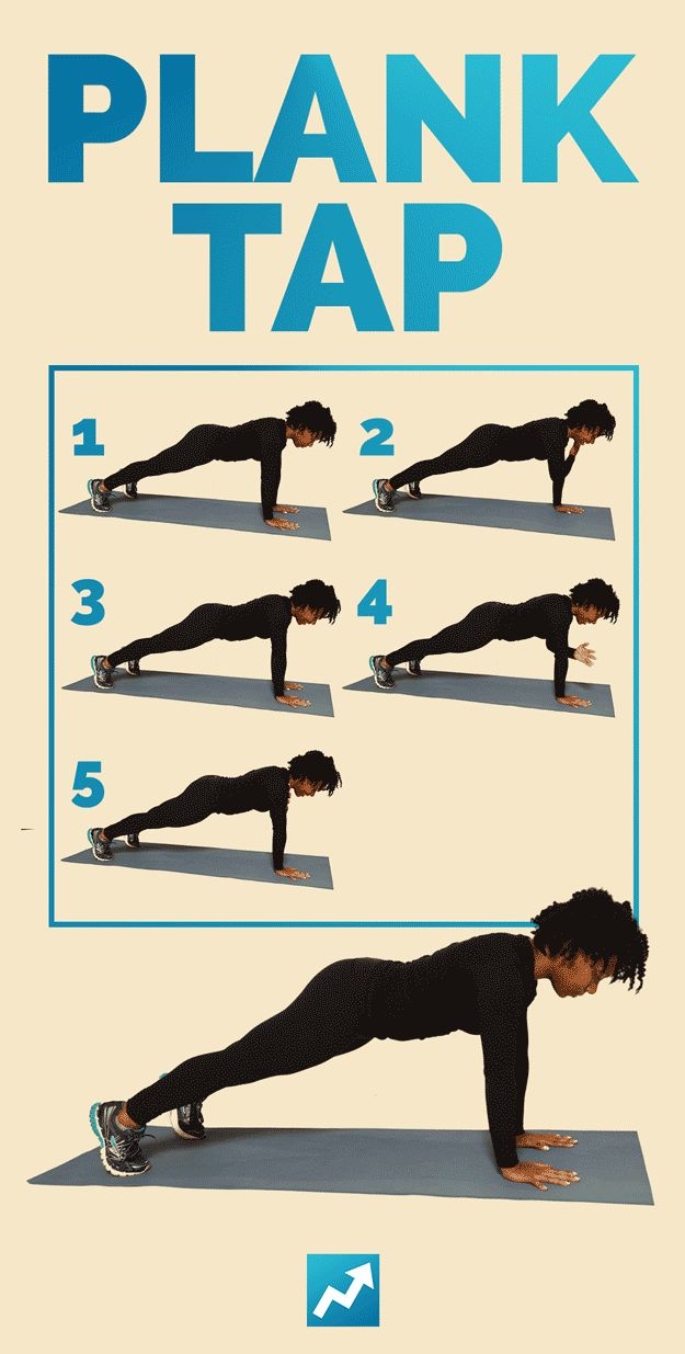 Plank Tap | The Only 12 Exercises You Need To Get In Shape