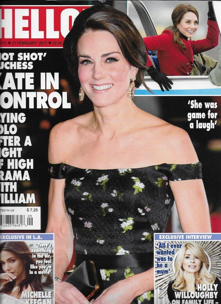 Hello magazine Kate Middleton Michelle Keegan Holly Willoughby Princess Diana