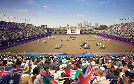 London Olympics Greenwich Park, Equestrian events, Modern pentathlon