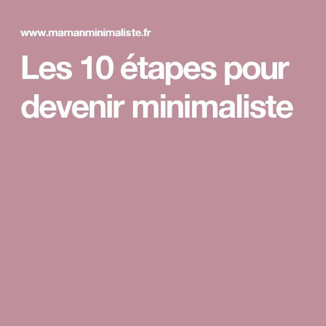 Les 10 étapes pour devenir minimaliste