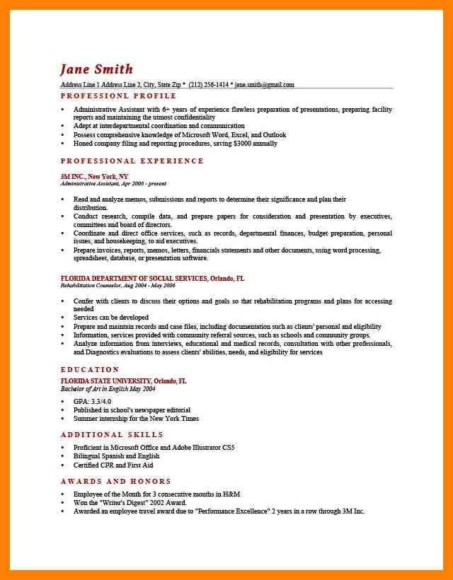 Resume Profile Examples Resume Profile Examples Resume Profile Examples For Many Job Openings A Resume Profile Is A Section Of A Resume Or Curriculum Vitae C