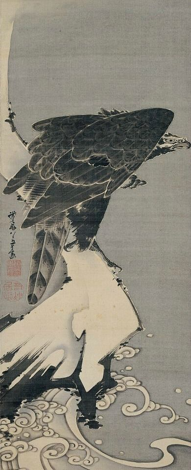 Itō Jakuchū, Eagle, 1800 Japan - 伊藤若冲, 日本