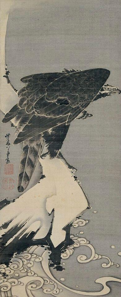 Itō Jakuchū, Eagle, 1800