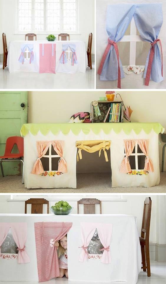 casinha de toalha de mesa