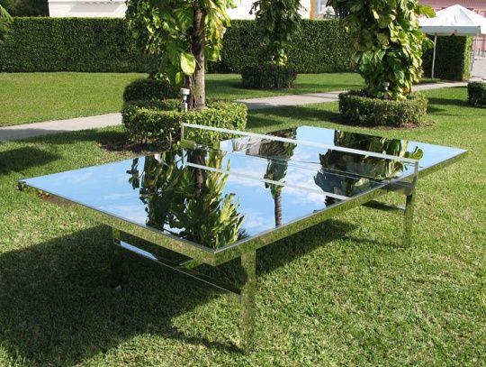 mirrored ping pong table - Tiravanija Mirrored