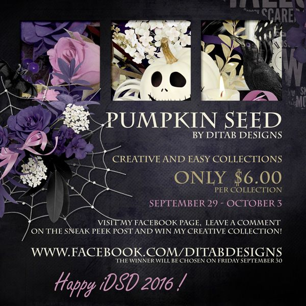 DitaB Designs:   iDSD collections Pumpkin Seed by DitaB Designs c...
