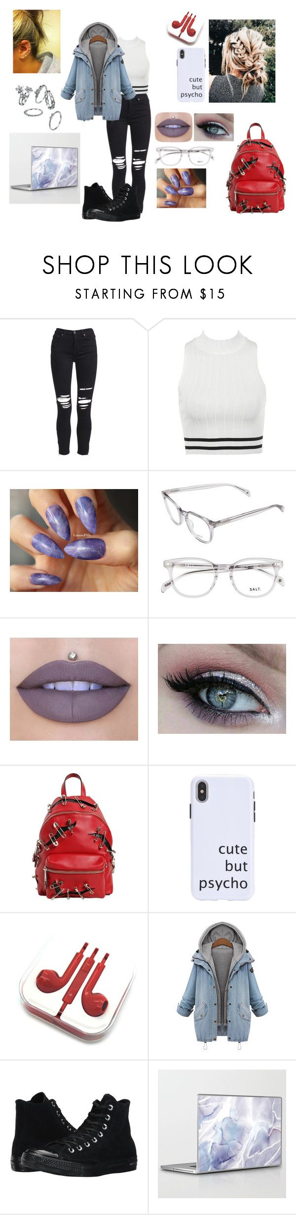 """(No Title)"" by ada101 ❤ liked on Polyvore featuring AMIRI, Jeffree Star, Moschino and Converse"