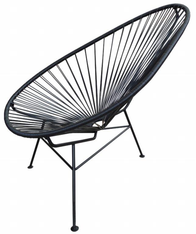 Black Acapulco Chair | Mexican  Contemporary Design | Designer: Jorge Akele Achcar | shopAGO 2012 Gift Guide