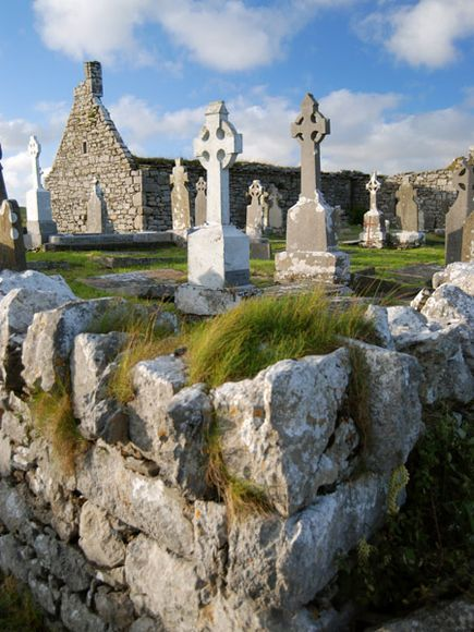 Doolin Church and Cemetery. County Clare, Ireland.: Musicians And, Celtic Crosses, National Geographic Photo, Andrew Leahi, Numbers, Cemetery, Old Church, Church Ruins, County Clare Ireland