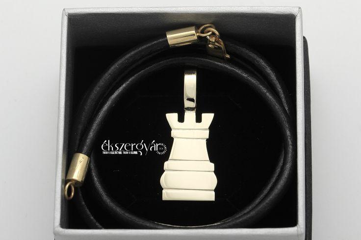 Bástya (sakk) 14 karátos arany medál.