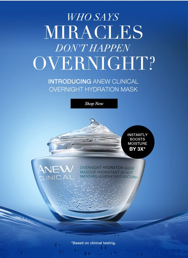 Shop Anew Clinical Overnight Hydration Mask. Campaign 7 catalog now on line…