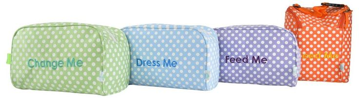 Diaper Bag Organizer Inserts in Polka Dot – Set of 4 – Easy Baby