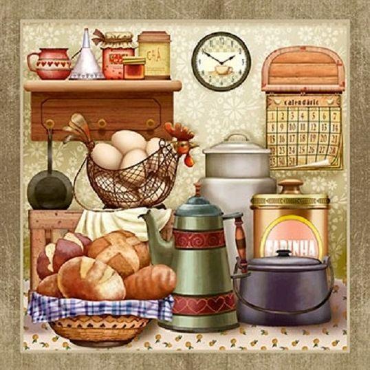 78 best im genes sobre dibujos cocineros y cocina en - Laminas decorativas para cocinas ...
