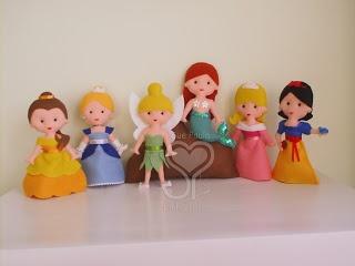 Felt princesses, and Tinker Bell