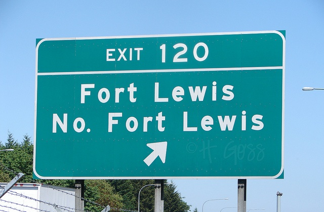 Fort Lewis, WA  Stationed here 2001-current (excluding the two years we were at Ft Sam Houston TX and Ft Stewart GA)