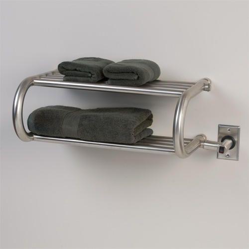 "23"" Luena Stainless Steel Hardwired Towel Warmer Shelf"