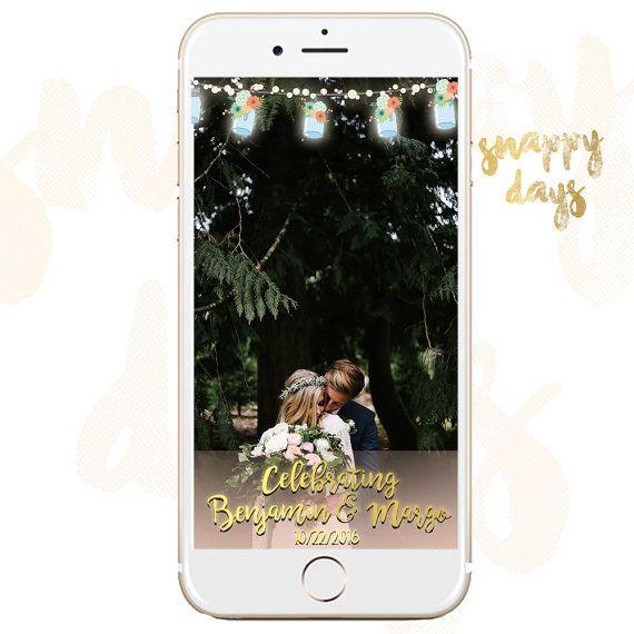 snapchat geofilter wedding string lights filter custom snapchat mason weddi. Black Bedroom Furniture Sets. Home Design Ideas