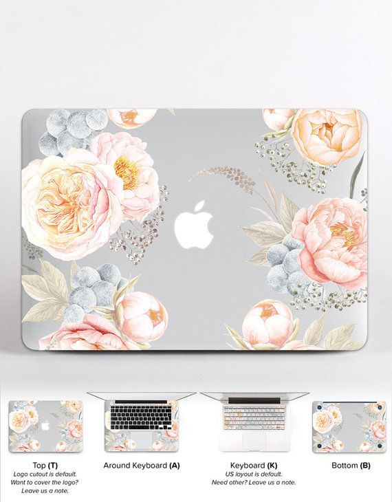 Pink Mac Air 11 Case Valentine HP Laptop Decals Floral MacBook Keyboard Cover MacBook Pro Case 2016 Flowers MacBook Air 13 inch Skin DR061