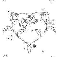 Heart Roses Bunch Coloring Page Print Out And Color This Decorate Your Room With Lovely Pages From