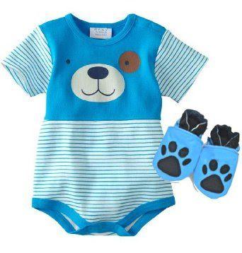 "Pusat Gudang Sepatu Bayi - Bayi Boutique ® Striped Puppy Biru Creeper dengan Kulit ""Paw Print"" Soft Sole Sepatu Bayi - Baby Boy, Ukuran: New Born sampai 6-9 bulan | Pusat Sepatu Bayi Terbesar dan Terlengkap Se indonesia"