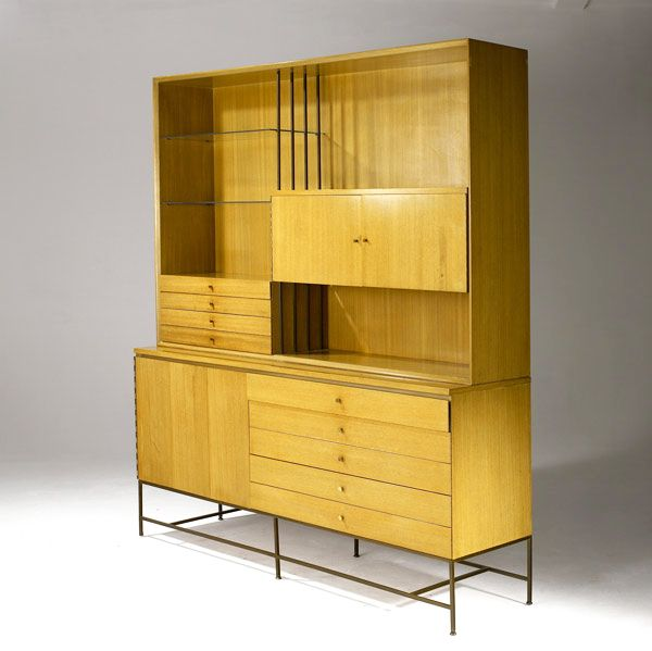 Paul McCobb, breakfront cabinet for Calvin, 1950s.