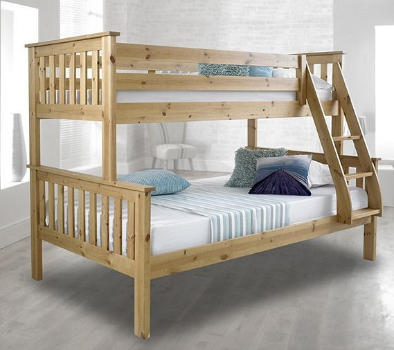 Tesco direct: Happy Beds Atlantis Solid Pine Wooden Triple Sleeper Bunk Bed Frame
