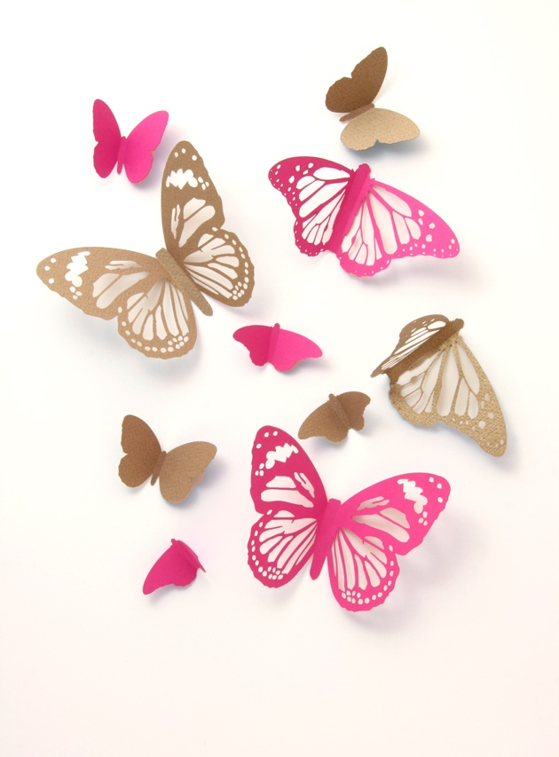 gold and hot pink. Like the butterflies too.