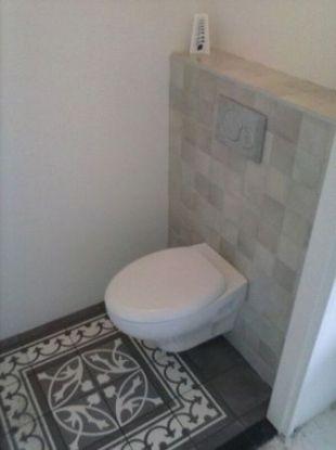 toilet, portugese tegels