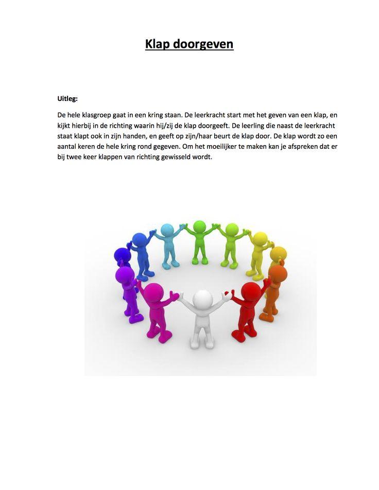 Klasbouwers - teambouwers : klap doorgeven