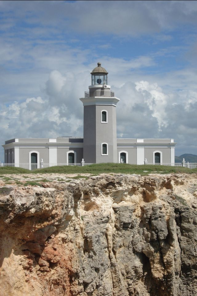Los Morrillos Light, also known as Faro Los Morrillos de Cabo Rojo, is a historic lighthouse located in the municipality of Cabo Rojo, Puerto Rico. Located at the southwestern tip of the island of Puerto Rico, this lighthouse was constructed in 1882 in order to guide passing ships through the southeast entrance from the Caribbean Sea through the treacherous Mona Passage into the Atlantic Ocean.