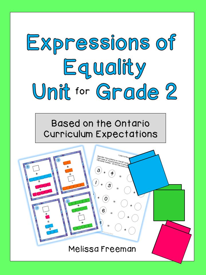 This Unit for Grade 2 is based on the Ontario Curriculum Expectations.