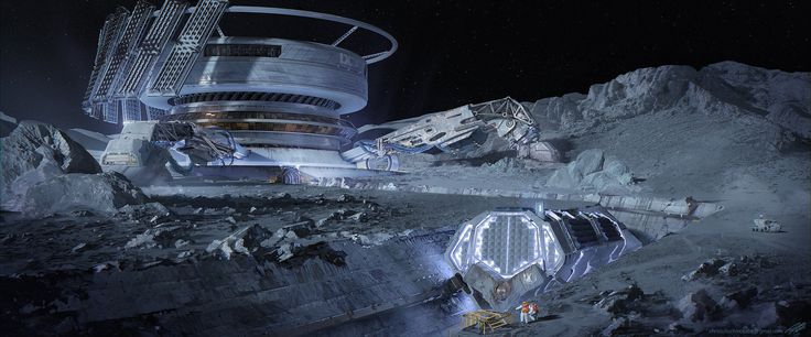ArtStation - Mobile Lunar Drill Site 'A', Chris Tulloch McCabe