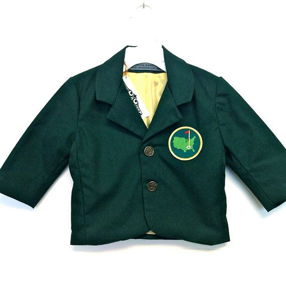It's almost here - Order yours before it's too late!!!! Custom Boys Blazer  PGA  inspired the MASTERS by theHouseofLux, $99.00