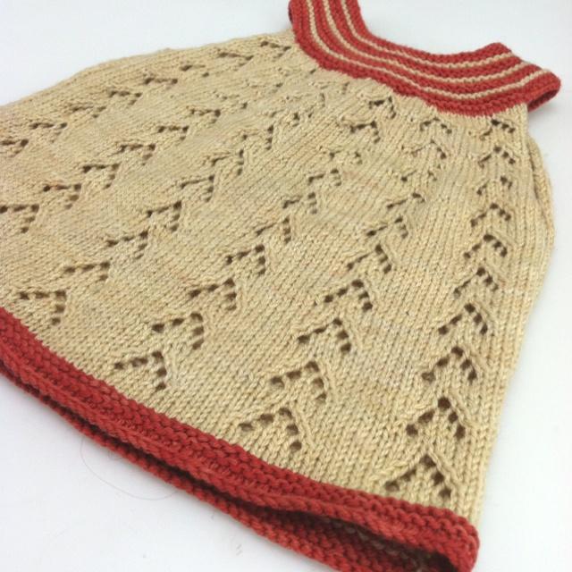 Sweet newborn hand knit dress!