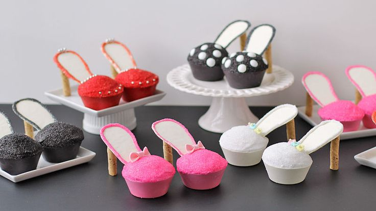 100% edible high heel shoes made from cupcakes! Perfect for bachelorette or birthday parties!