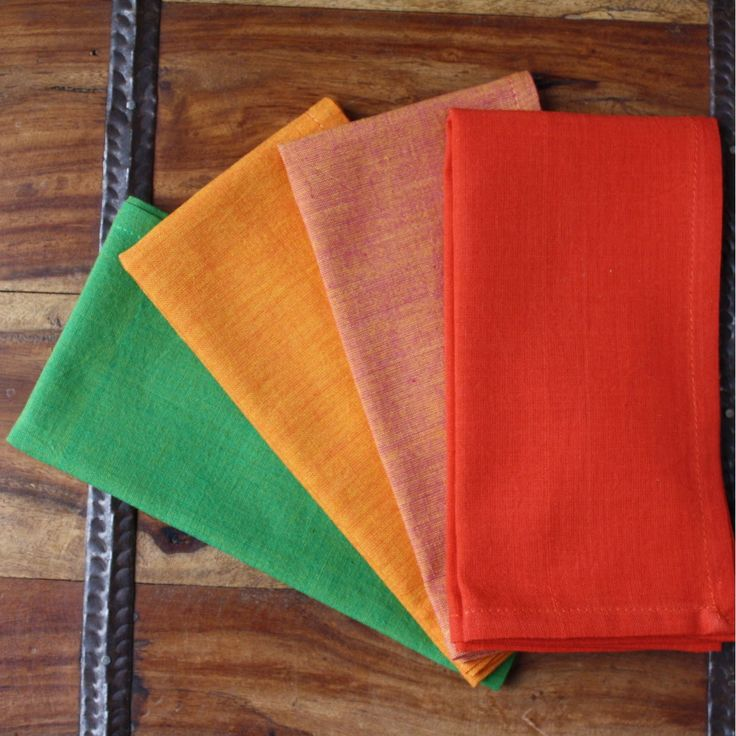 Warm Palette 16 inch Cotton Napkin Set of 4 - Sustainable Threads (L)